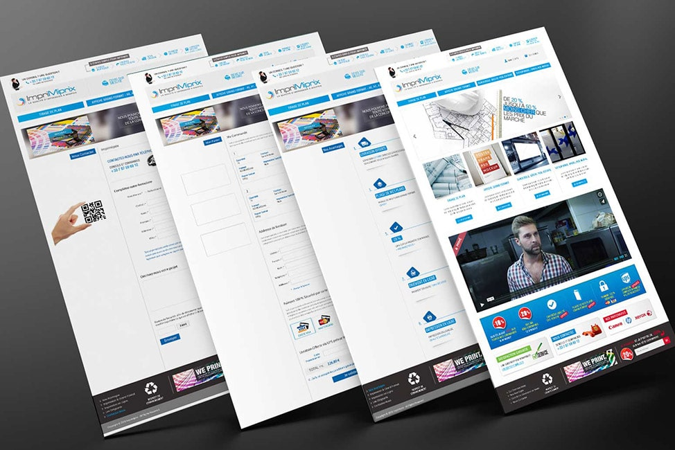 four websites mockup